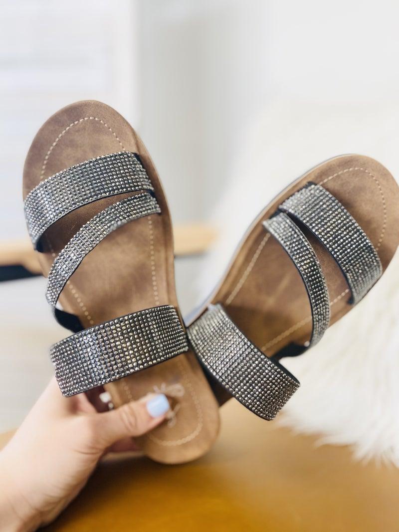 Corky Kaplan Sandals- Black