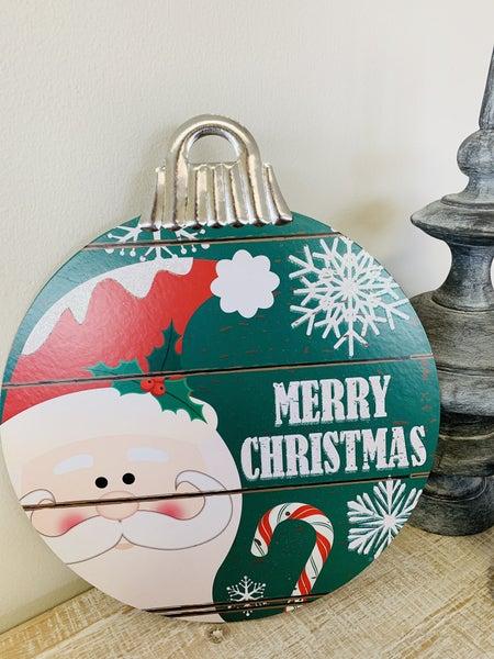 Merry Christmas Bulb Decor