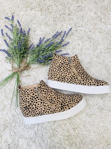 Leopard Up Wedge Sneakers