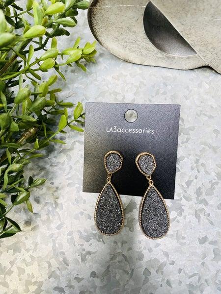 Druzzy Gold Earrings