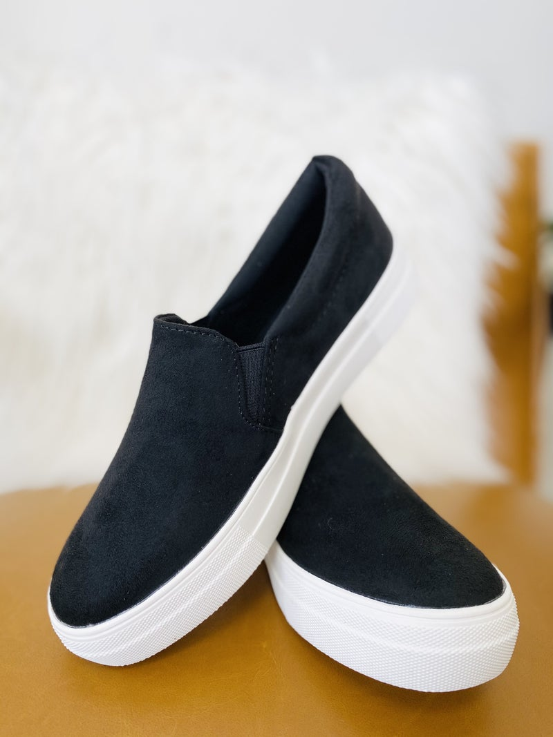 The Jamie Black Suede Sneaker