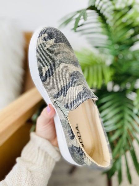The Jamie Camo Sneakers
