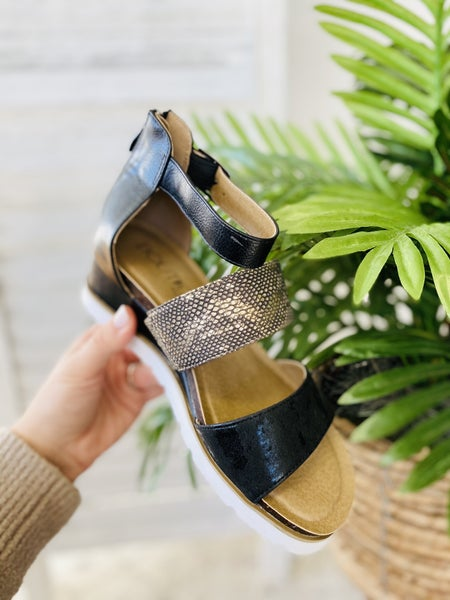 Corky Livingston Black Sandal