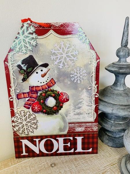 Noel - Snowman Sign Decor