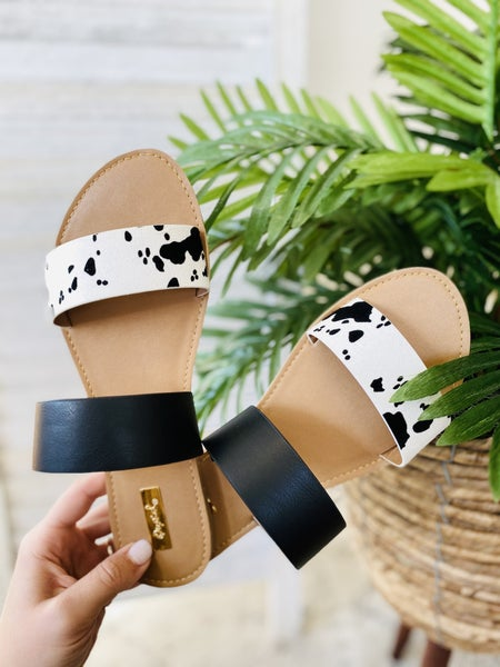 Summer Loving Sandals- White/ Black