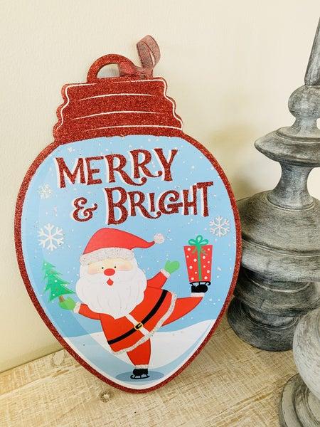Merry & Bright Bulb Decor