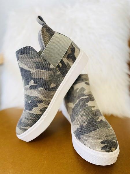 The Diana Camo Khaki Sneaker