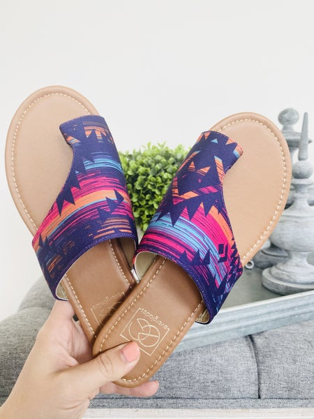 the Lily Aztec Purple Sandal