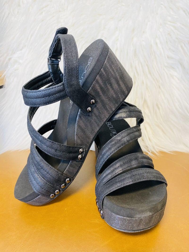Corky's Lifeguard Black Metallic Sandal