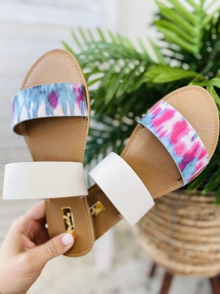 Summer Loving Sandals- Tie Dye