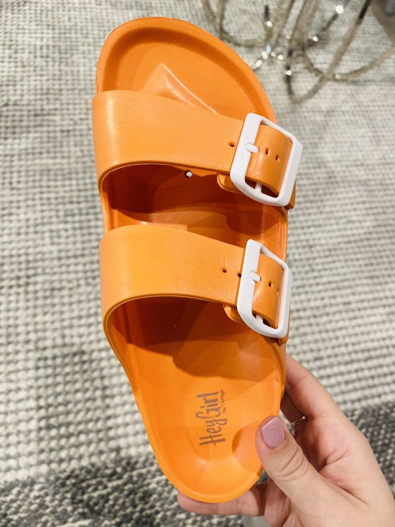 Corky Waterslide Orange Sandal