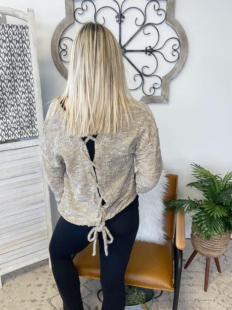Tie It Up Sweater- Khaki