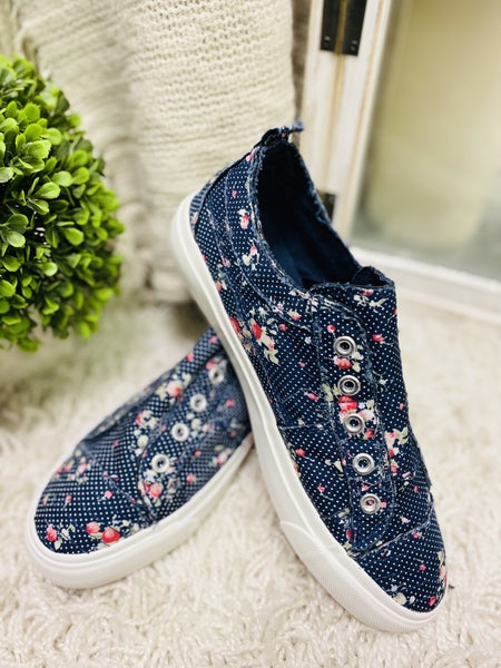 Corky Navy Floral Babalu Sneakers