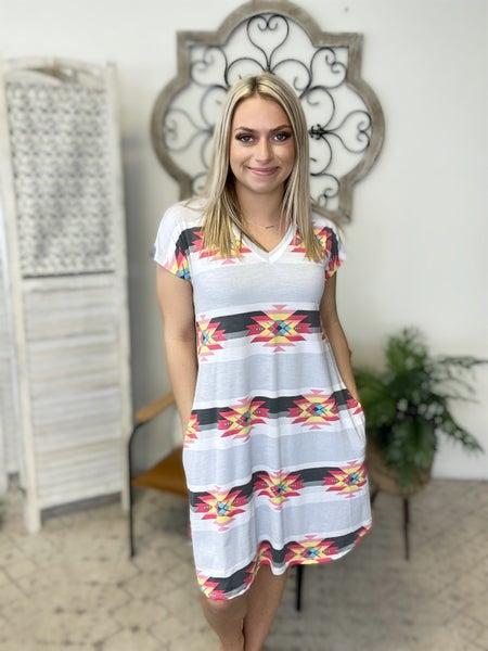 Stripe Aztec Dress