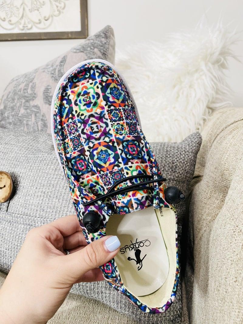 The Corky Mosaic Kayak Shoes