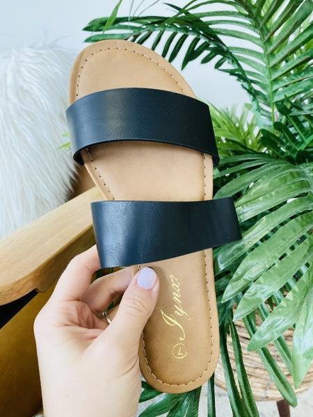 The Dora Black Sandal