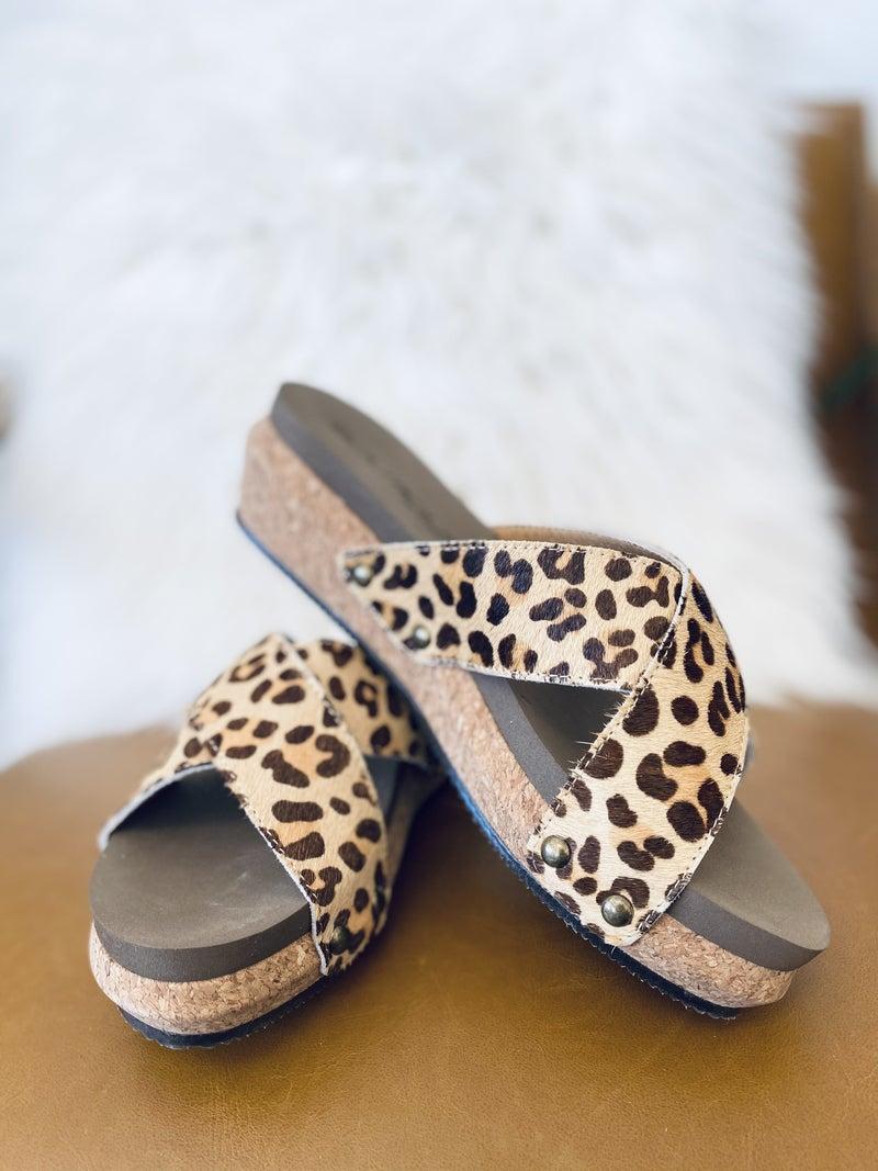 Corky Hazel Too Leopard Sandal