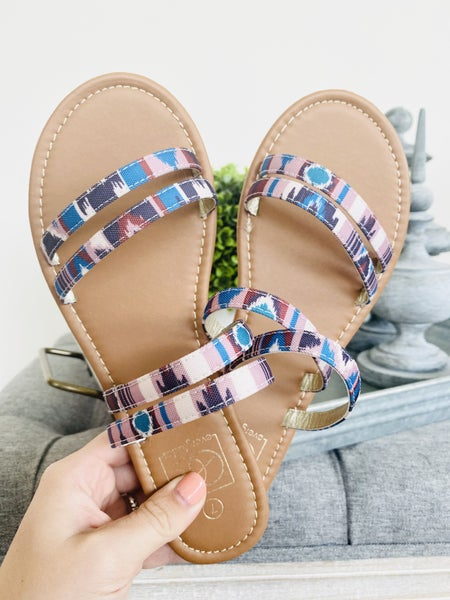 The Lily Aztec Blue Sandal