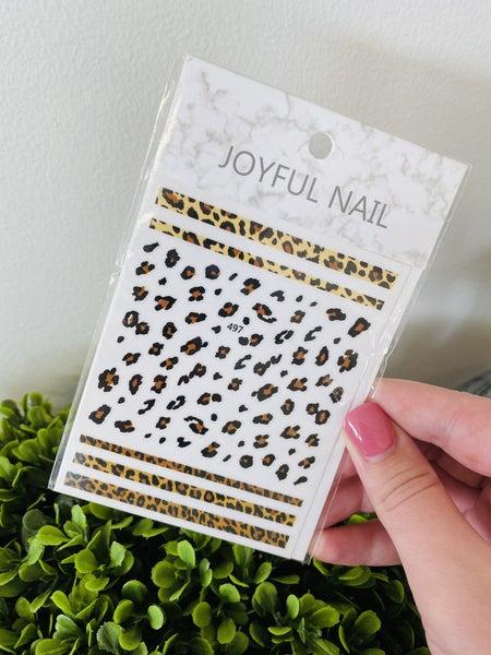 Leopard Print Nail Stickers ~ 3D