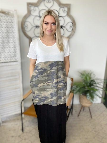 Long And Beautiful Camo Dress