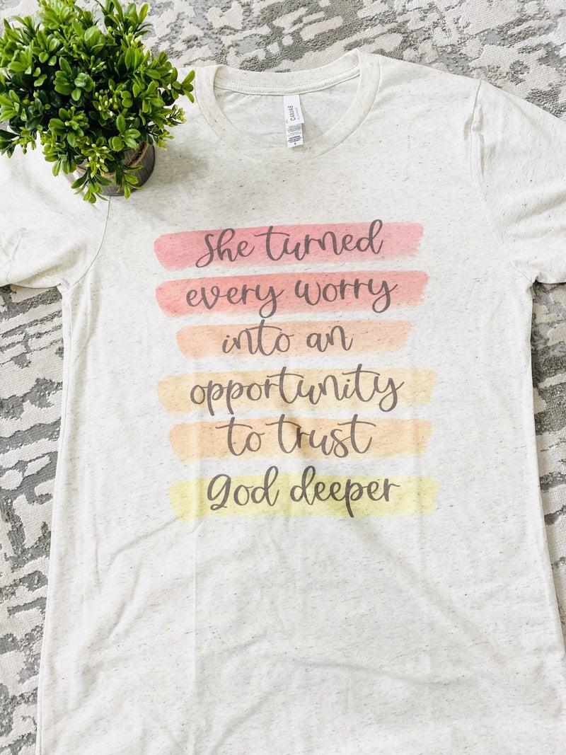 Trust God Deeper Graphic Tee