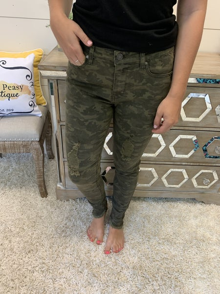Chasing My Dreams Camo Jeans