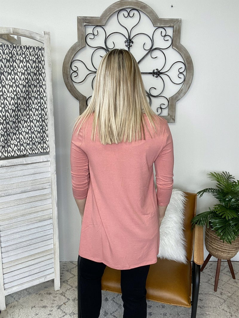 Simple Look Top- Ash Rose