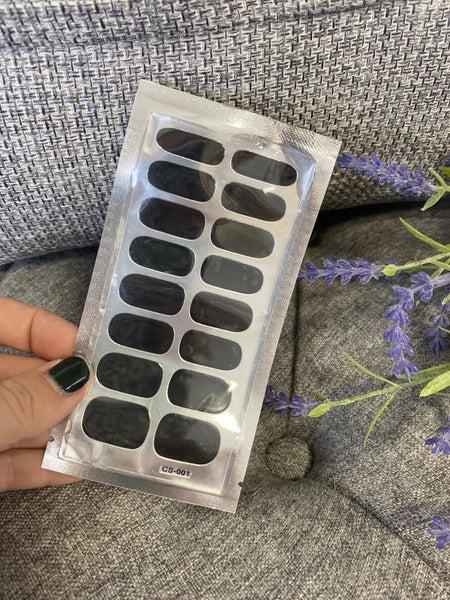 Fashion Nail Wraps - Matte Black