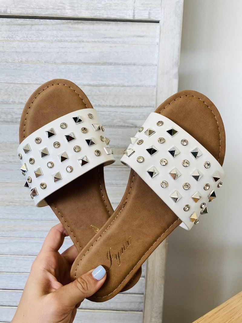 The Kennedy White Sandal
