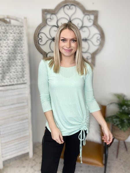 Simple Knot Top- Dusty Mint