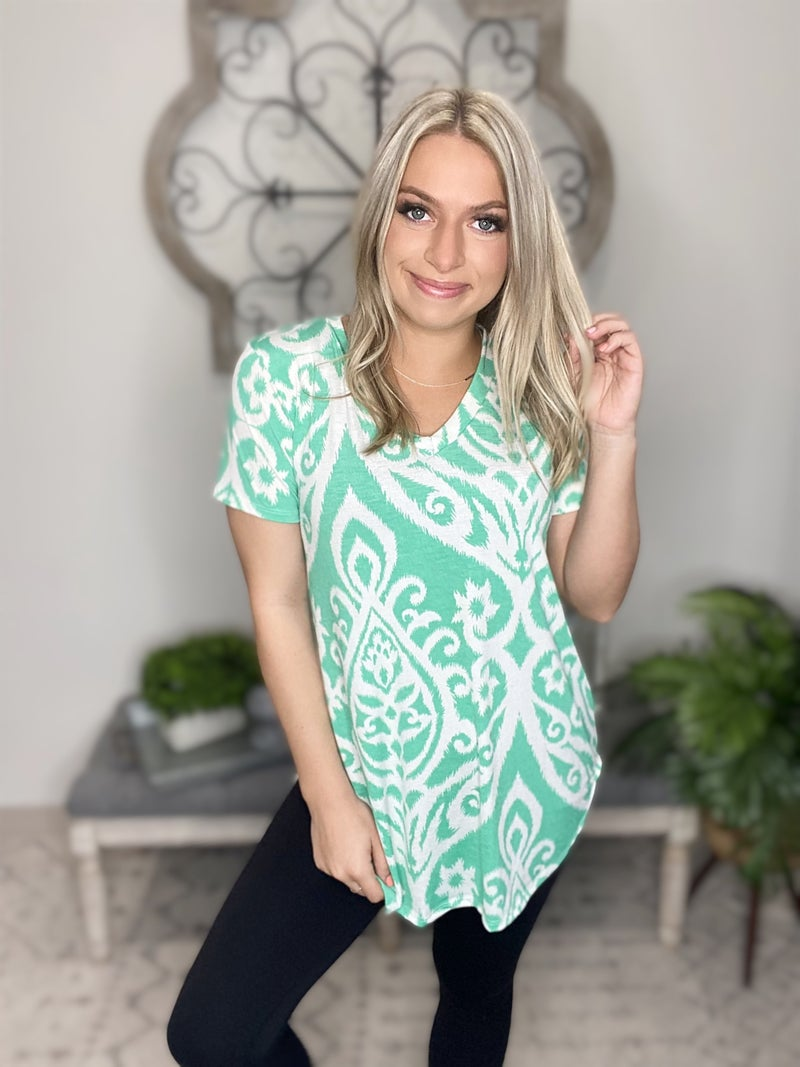 Days Are Gone Top- Mint/ Ivory