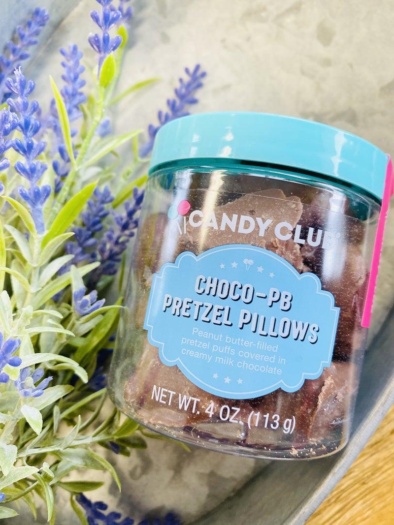 Choco Peanut Butter Pretzel Pillows
