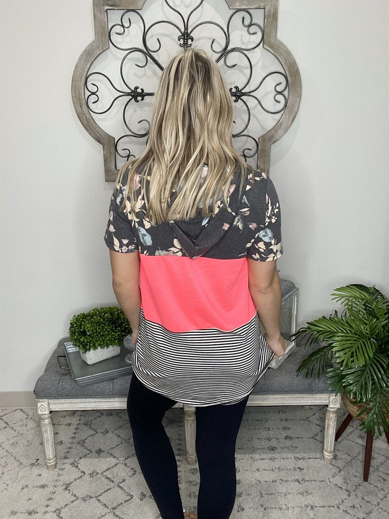 Never A Dull Moment Look Hoodie- Neon Pink