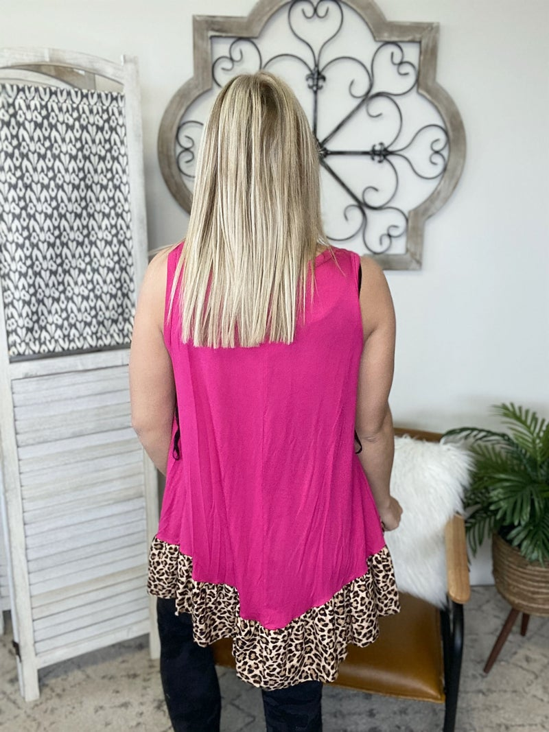 See Us Together Top- Fuchsia