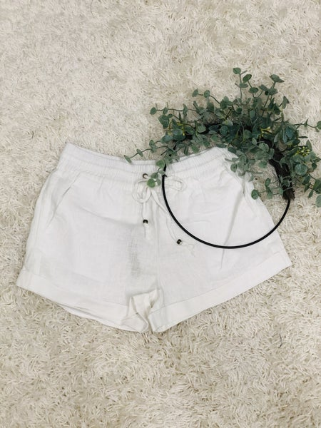 Love My Linen Shorts ~ White