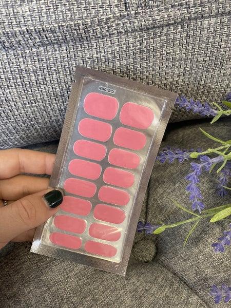 Fashion Nail Wraps - Flamingo Pink
