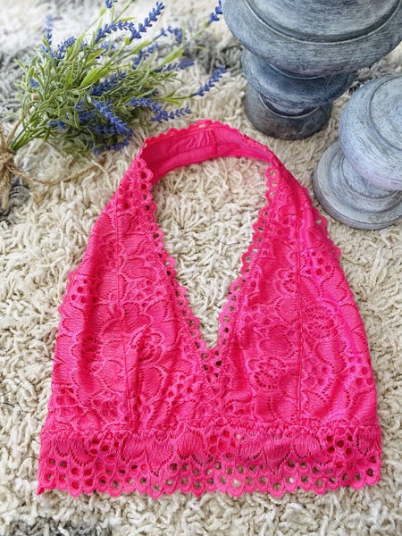 Lace Babe Pink Bralette
