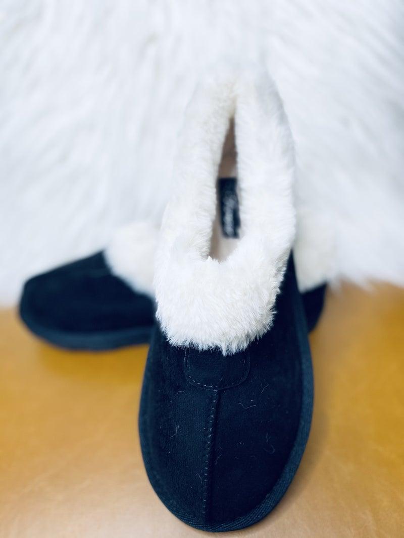 Black Comfort Flats