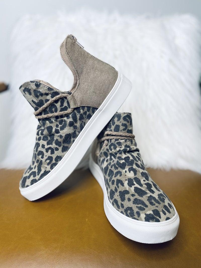 Gypsy Jazz Survivor Tan Leopard Shoes