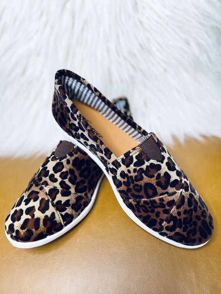 Slip On And Go Flats- Leopard