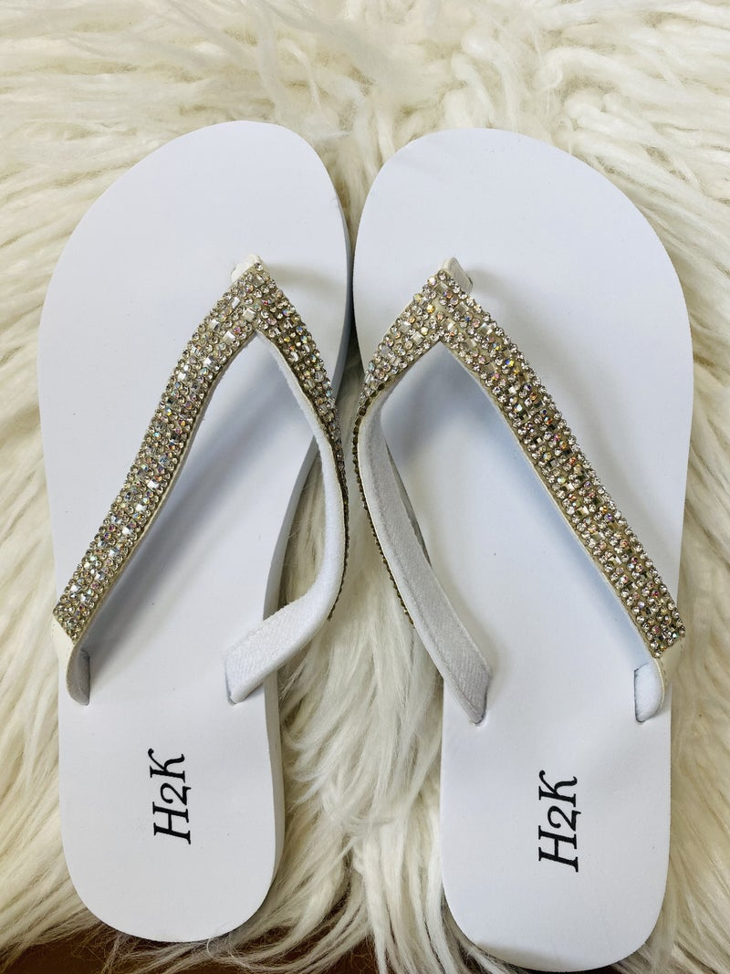 The Astra Faith Sandals- White