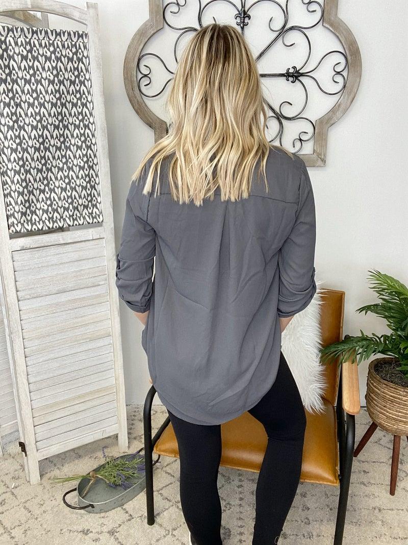 Dressing Nice Top- Ash Grey