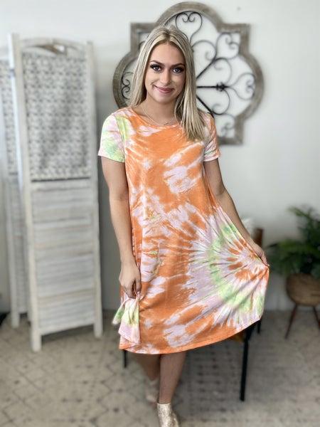 Everybody Know It Dress- Orange