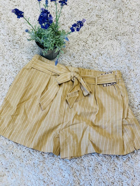 The Khloe Shorts ~ Dusty Yellow