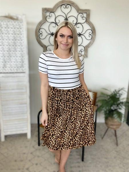 Summer Twirling Cheetah Dress