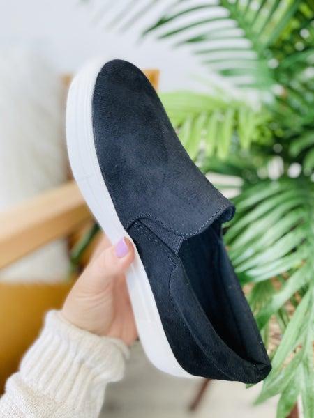 The Jamie Black Suede Sneaker