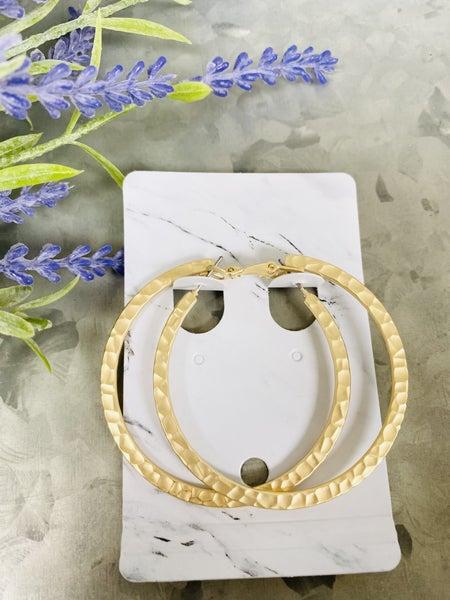 Simple Is Key Earrings- Gold