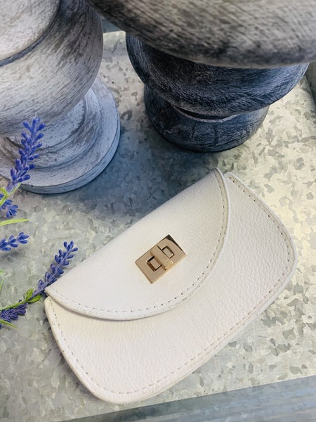 Mini Belt Pouch Purse ~ Ivory