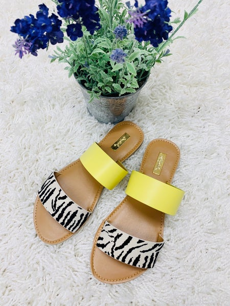 Athena Sandal ~ Zebra