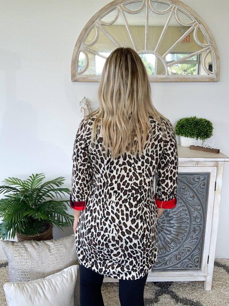 Buffalo Plaid & Leopard Sassy Dress
